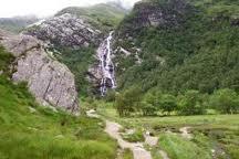 Steall waterfalls in upper Glen Nevis.