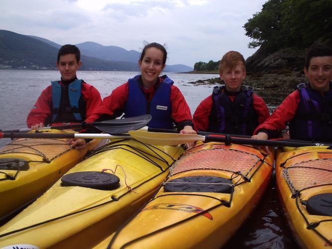 Sea-kayaking on Loch Linnhe.