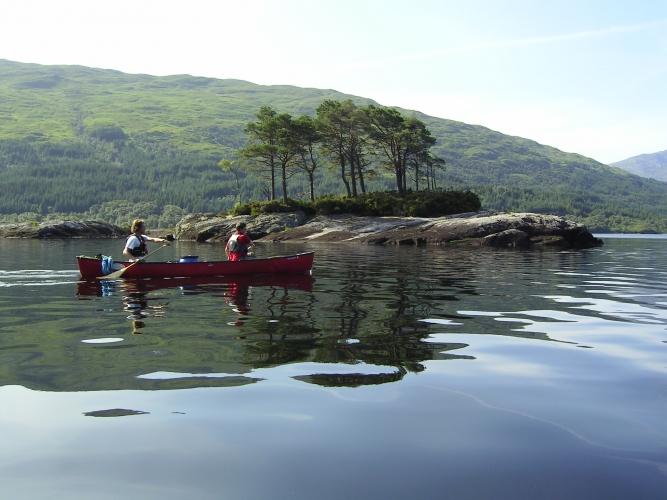 Canadian Canoeing on Loch Shiel.