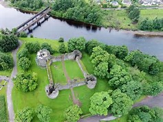 Inverlochy Castle from the air.